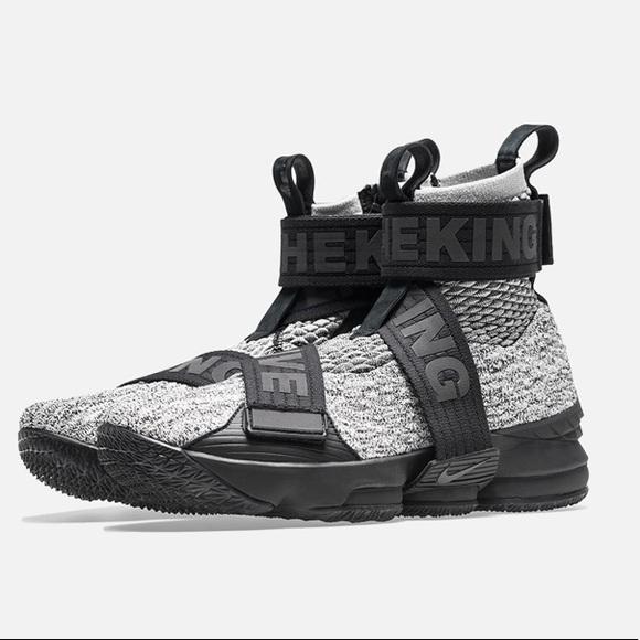 d40e456ac9d Kith concrete mens sz 7.5 Nike Lebron 15 gray